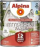 Alpina Wetterschutz-Farbe deckend Weiß 0,75 l