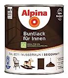 Alpina Buntlack Metalllack 0,75L nussbraun Ral 8011...