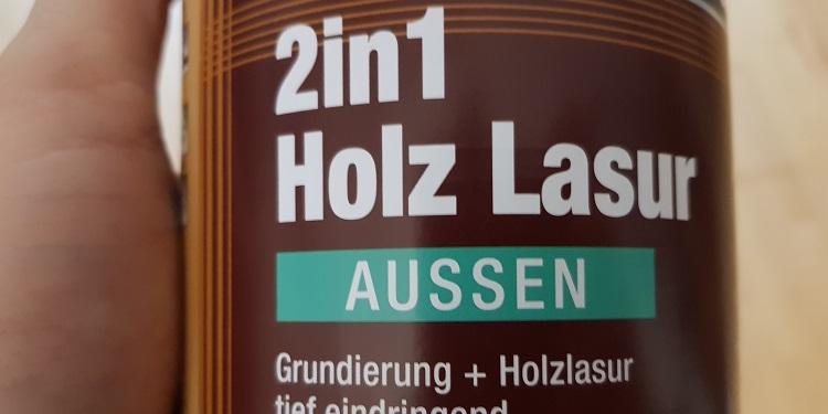Holz Lasur 2in1 mit Gurndierung