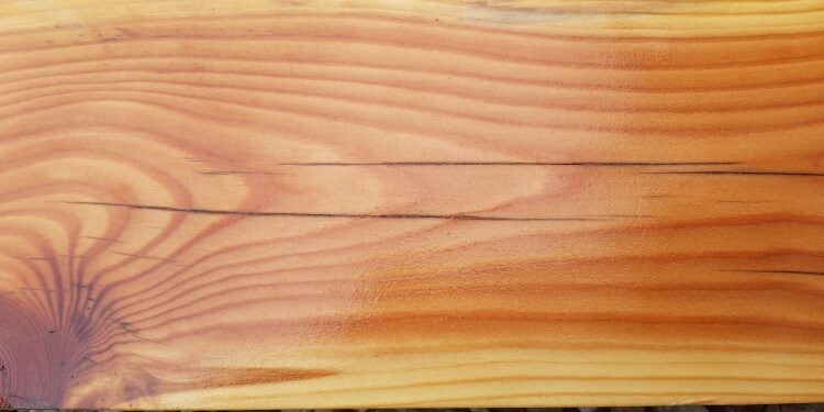 Grundierte Holzlatte