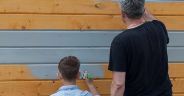 Grundierung Holz Gartenhaus