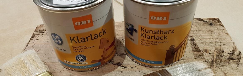 Holz mit Klarlack lackieren