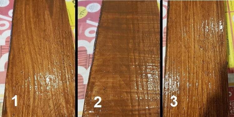 Holz mit Pinsel streichen verschlichten
