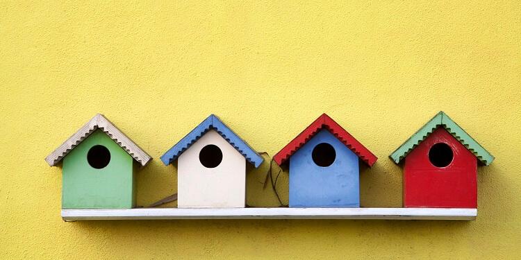 Vogelhaus wetterfest streichen und lackieren
