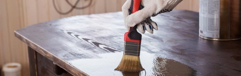 Holz Ölen Pinsel oder Lappen