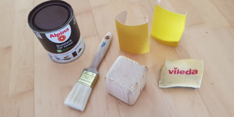 Benötigtes Material Holzspielzeug lackieren